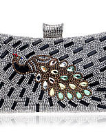 L.west Women Elegant High-grade The Peacock Diamonds Evening Bag