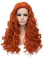 Top Quality Long Curly Brown Color Hair Synthetic Wig