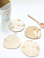 animal mignon creux mat en bois sculpté montagnes tasse tasse barre de magasin de tapis de table de thé tasse de café (aléatoire)
