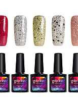 Modelones 5Pcs Gelpolish Soak off UV Gel Nail Polish Pure Color Gel Nail Glue Manicure C111