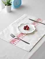 4pcs napperons pack de poissons japonais motif de toile à motif de coton de mode lavable 11.8