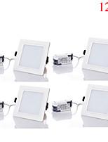 12W LED Encastrées 24pcs SMD 5730 1100-1200 lm Blanc Chaud / Blanc Froid / Blanc Naturel Décorative AC 85-265 V 4 pièces
