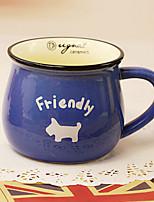 classique créative céramique bleue tasse tasse