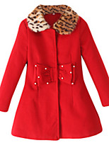 Girl's Jacket & Coat,Cotton Winter / Fall Blue / Red