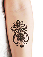 Lace Water Transfer Stickers Temporary PVC Henna Tattoo Sticker Printing Airbrush Tattoo Stencils