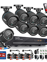 SANNCE® 720P AHD 8CH   CCTV Recording DVR Black Bullet Camera Home Surveillance Security Camera System 1TB HDD