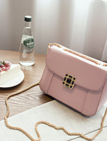 Women PU Baguette Shoulder Bag-Pink / Red / Gray / Black