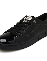 Men's Shoes Casual Patent Leather Fashion Sneakers Black / Silver / Gold