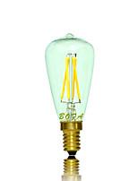 NO Lâmpada Redonda LED Regulável / Decorativa E14 3W 200-300 lm 2200K 2700K K Branco Quente 4 COB 1 pç AC 220-240 / AC 110-130 V Tubo