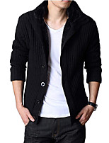 Men's Cardigan,Cotton / Polyester Long Sleeve