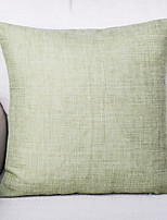 Pure Color Linen Cushion Cover-Cyan