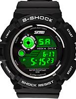 Montre de sport Hommes / Unisexe Etanche / Chronomètre / Noctilumineux Quartz Japonais Numérique bracelet