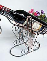 Fashion Art High Quality Wine Rack Retro Wine Holder Home Furnishing Decorations Chrome Plating