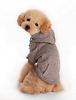 Hunde Kapuzenshirts / Kleidung / Kleidung Rot / Schwarz / Grau / Orange Frühling/Herbst einfarbig Modisch-Lovoyager