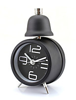 Metal Single Bell Retro Alarm Clock Desktop Table Modern Time Display (Random Color)