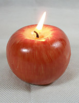 Apple Candle Light Birthday Party Christmas Toys Romantic Gift Kitchen Lighting Tool 1 Sets of /2PCS
