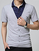 Men's Short Sleeve Polo,Cotton Casual Solid