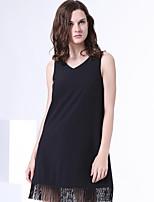 S29® Women's V Neck Sleeveless Above Knee Dress-5SL33SL370131001