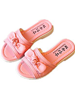 Girls' Shoes Casual Comfort / Slippers Leatherette Slippers Black / Pink / White