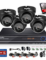 SANNCE® 8CH CCTV System 720P Camera 1080P HDMI AHD CCTV DVR 4PCS 1.0 MP IR Outdoor Security Camera Surveillance System