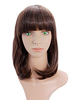 Long straight hair wig female long section Qi Liu buckle slightly curled hair wig fashion