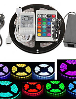 ZDM 5M 300X5050 SMD RGB LED Strip Light and 24Key Remote Controller and 5A EU/UK/US/AU Power Supply (AC110-240V)