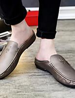 Черный / Золотистый / Оранжевый Мужская обувь Для офиса / На каждый день / Для вечеринки / ужина Искусственный мех Лоферы / Без застежки