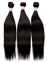 6a pelo virginal recto haces de la armadura del pelo humano 3pcs peruano peruano extensiones de cabello lacio