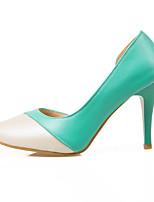 Chaussures Femme-Décontracté-Vert-Talon Plat-Tongs-Mocassins-Synthétique / Similicuir