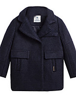 Girl's Jacket & Coat,Wool Spring / Fall Blue / Pink / Red