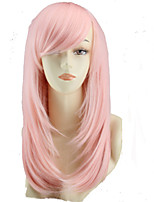 COS Color Cartoon Wig Long Pear Flower Pink  Wig Sell Like Hot Cakes