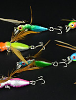 4.5cm 3.4g/PCS New Hard Insect Fishing Lures Baits CrankBaits Sinking Tackle Fish Hooks  8PCS/Set