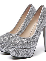 Women's Shoes Leatherette Stiletto Heel Heels Heels Wedding / Party & Evening Pink / White / Silver / Multi-color