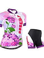 NUCKILY Cycling Clothing Sets/Suits / Arm Warmers Women's Bike Breathable / Reflective Strips / Back Pocket Short Sleeve Inelastic