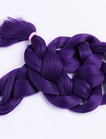 1-12packs / pcs extensões de cabelo trança sintética cor do cabelo roxo trança alta temperatura 100g