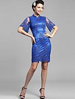 Baoyan® Women's Stand 1/2 Length Sleeve Above Knee Dress-144381