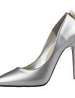 נעלי נשים-בלרינה\עקבים-פליז-עקבים-שחור / ירוק / אדום / כסוף / אפור / אלמוג-קז'ואל-עקב סטילטו