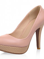 Women's Shoes Leatherette Stiletto Heel Heels Heels Office & Career / Dress / Casual Black / Pink / Purple / Beige