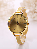 Women Golden Large Size Case Steel Gold Band Watch Jewelry for Wedding Party