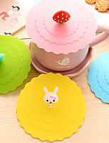 dia 11cm différents animaux de dessin animé silicone tasse couvrir créatif couleur mug bouchon drinkware (couleur aléatoire)