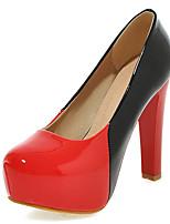 Calçados Femininos-Saltos-Saltos / Plataforma / Bico Fino-Salto Agulha-Preto / Verde / Vermelho-Courino-Social / Festas & Noite