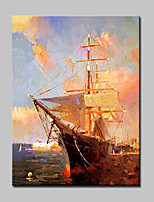 Lager Hand-Painted Seascape Sailing Oil Painting On Canvas For Living Room Home Decor Wall Art Picture Whit Frame