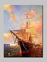 Handgeschilderde Abstract / Landschap / Abstracte landschappen / POPModern Eén paneel Canvas Hang-geschilderd olieverfschilderij For