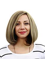 las mujeres el pelo rizado sintético de color beige claro peluca
