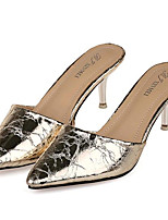 Women's Shoes Leatherette Summer Heels Outdoor / Casual Stiletto Heel Silver / Gold