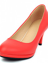 Women's Shoes Leatherette Stiletto Heel Heels Heels Outdoor / Office & Career / Dress Black / Red
