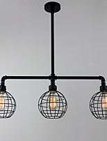 MAX60W Montagem do Fluxo ,  Tradicional/Clássico Pintura Característica for Estilo Mini MetalSala de Estar / Quarto / Sala de Jantar /