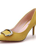 Zapatos de mujer-Tacón Stiletto-Tacones-Tacones-Casual-Vellón-Negro / Amarillo / Rosa / Gris