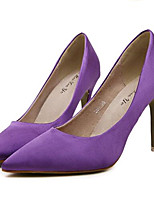 Women's Shoes Silk Stiletto Heel Heels Heels Wedding / Party & Evening Black / Purple / Red