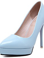 Women's Shoes Patent Leather Spring / Summer / Fall Heels Heels Dress / Casual Stiletto Heel Slip-on Black / Blue